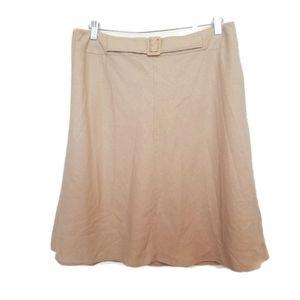 Marks & Spencer woman tan linen blend a-line skirt